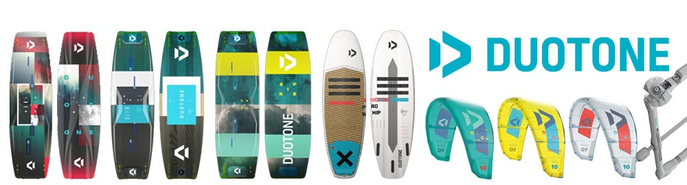 Duotone kites and boards 2020 from Flow kitesurf school in Sicily.