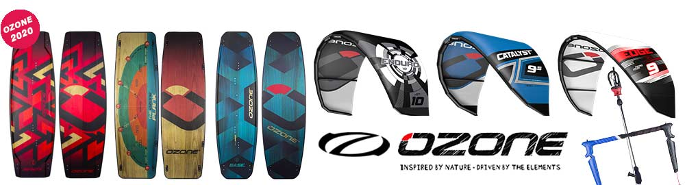 Ozone kites and boards 2020 from Flow the lagoon of Lo Stagnone kitesurf school in Sicily.