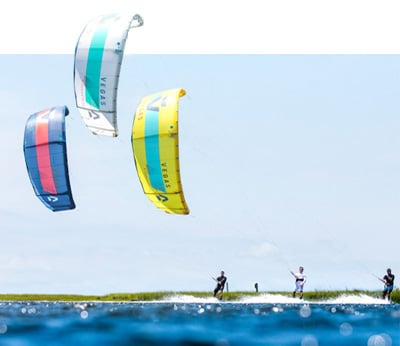 Test the New Duotone 2020 kites from Flow kitesurf school at the lagoon of Lo Stagnone in Sicily.