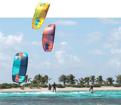 Test the New Duotone 2021 kites from Flow kitesurf school at the lagoon of Lo Stagnone in Sicily.